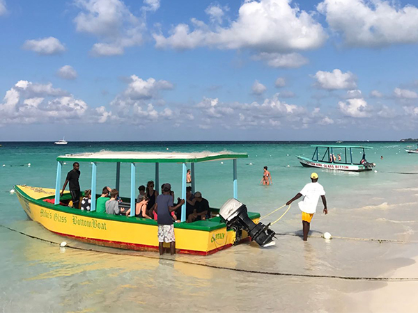 Glass Bottom Boat Tour And Excursion Reggae Horseback Riding